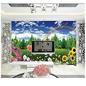 Benutzerdefinierte 3D TV Tapeten und Hintergründe Wandbilder Frühlingsmode Dekoration Einstellung Wand Landschaft 3D Tapete für Wohnzimmer