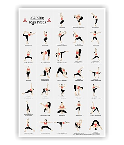 Lab NO 4 Yoga Posture Poster, Standing Asanas Poses in A1 Size