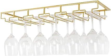 Teapots Wijnglas Rack Onder Kast Stemware Rack Glazen Opberghouder Metalen Organizer voor Bar/Keuken Liuyu. (Maat: 6 Rij)