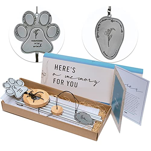 Yearn Pet Memorial Wind Chime   Dog Loss Sympathy Gift for Grieving Pet Owners   Dog Memorial Windchime   Pet Loss Gifts   Pet Memorial Gifts   Comes in a Delicate Gift Box and Includes Sympathy Card