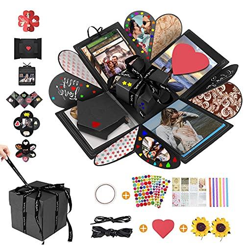 Creativa caja sorpresa caja de explosión para manualidades, álbum de fotos plegable para regalo de cumpleaños, aniversario, boda, día de la madre, mejor amiga, novia, amigos