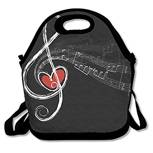 ZMvise Music Symbols Love Lunch Tote aislado almuerzo