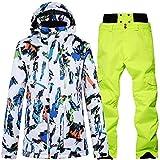 Gymqian Traje de Esquiar Hombres Traje de Esquí para Niños Traje de Nieve Deportes Al Aire Libre Montaña Ropa de Esquí para Niños Al Aire Libre Outwear Conjunto de Pantalón Y Chaque
