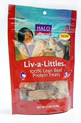 Halo Liv-A-Littles Natural Treats For Dogs And Cats, Freeze-Dried Beef Protein, 1.2Oz