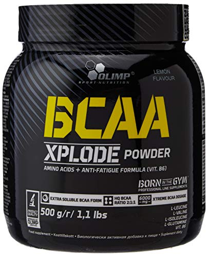 Olimp Labs Lemon BCAA Xplode Recovery and Energy Supplement Powder, 500g