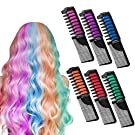 Hair Chalk, Hair Chalk Color Comb Temporary Halloween Hair Color Cream Non-toxic Washable with Shawl for Kids Party and Cosplay, Hair Chalk Pens Works on All Hair Colors