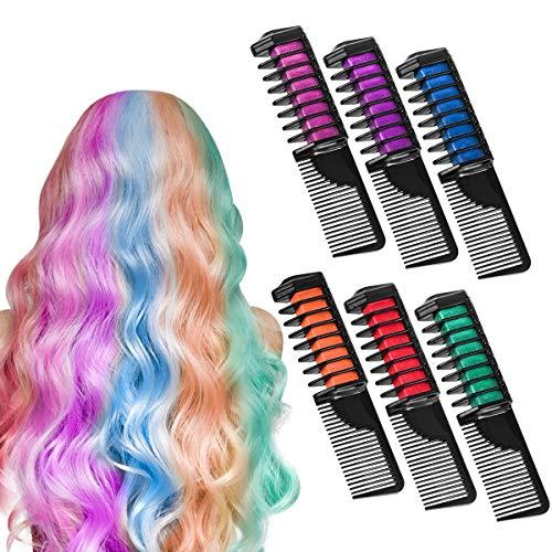 Haarkreide, ETEREAUTY Farben Auswaschbar Haarkreide Temporäre Haarfarbe für Kinder Mädchen, Geschenke für Geburtstag Karneval & Weihnachten (2 Farben)