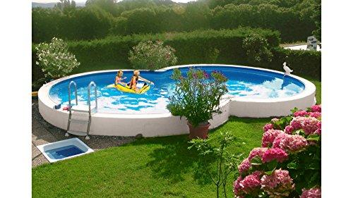 Unbekannt MYPOOL Achtformpool Premium, 525 x 320 x 120 cm, inkl. Bodenschutzvlies 320 cm, 525 cm, 120 cm