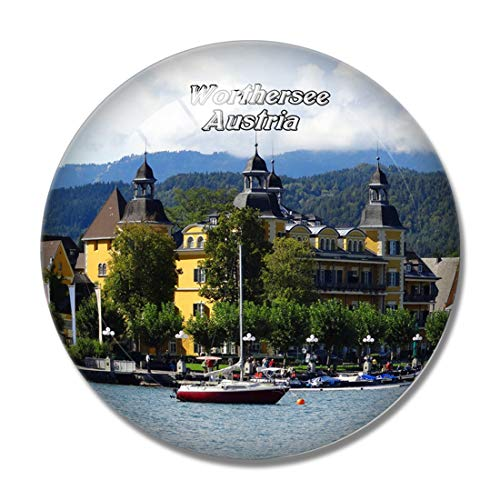 Worthersee Schloss Carinthia Österreich 3D Kühlschrank Magnet Whiteboard Magnet Souvenir Kristallglas
