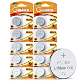 GutAlkaLi CR2016 - Pilas de botón de litio (10 unidades, 3 V, CR 2016)