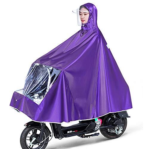 Cape de Pluie Manteaux Imperméable à Grande Capuche Moto/Vélo Poncho/Veste de Pluie Raincoat Cape Bonne Qualité Rainwear Outdoor Waterproof Unisexe pour Homme Femme