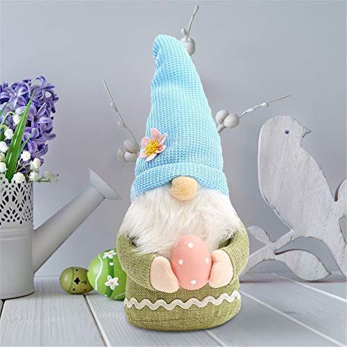 Goosuny Osterhasen Deko Süßer gesichtslose Puppe Ornament Osterhasen-Zwerge Puppe Ornament Ostergeschenk Tischdekoration für Party, Schlafzimmer Heimdekoration