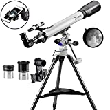 Telescope 70EQ Refractor Telescope Scope - 70mm Aperture and 700mm...