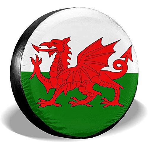 N/A Ruota di scorta Copriruota Bandiera Galles Potabile Poliestere Universale Impermeabile Antipolvere Protezione Solare Misura Universale