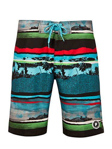 Protest Report Beachshort Short Homme, Cool Aqua, FR : M (Taille Fabricant : M)