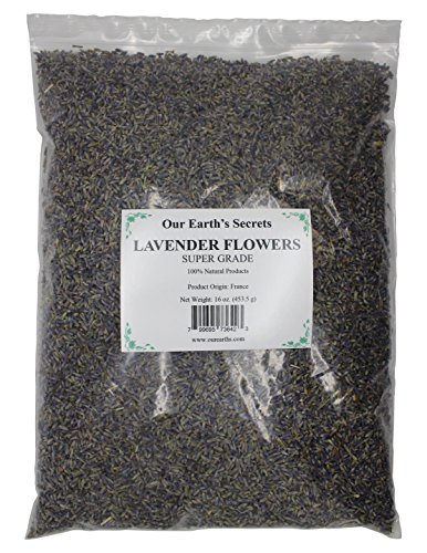 Our Earth's Secrets Lavender Flower Buds - 1 Pound - Super Grade from France