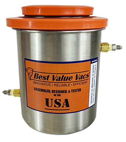 Best Value Vacs- 1.5 Gallon Stainless Steel Cold Trap