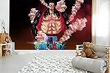 CZL Papel pintado panorámica Tema de Anime One Piece Monge D. Luffy Mural Papel Tapiz Murales Fotográficos 3D, Sala De Estar, Cuarto de los niños, Decoración Del Hogar, Papel Tapiz De Seda