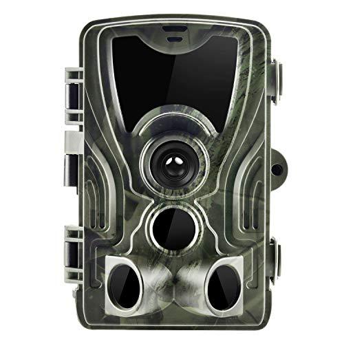 Cámara de Caza Trail Game 14 MP 1080P Impermeable para vigilancia de la Vida Silvestre con Rango de detección de 120 °, visión Nocturna activada por Movimiento, LED LCD IR de 2,4 Pulgadas