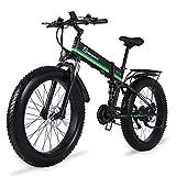 Sheng milo Fat Reifen Mountain E-Bike 21-Gang-Offroad-Rennen 26-Zoll-ATV-Schneemobil 12.8AH...