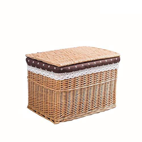 Cesta de almacenamiento de mimbre de gran capacidad para el hogar, cesta para aperitivos, cesta de almacenamiento para el hogar, cesta de almacenamiento rápido para alimentos