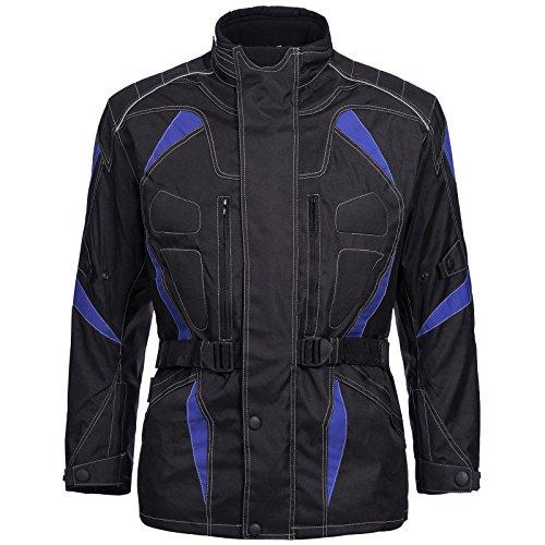 Limitless Motorradjacke Cordura Textil Roller Quad Biker Touring Schwarz Blau Gr. M L XL XXL 3XL 4XL Neu (L)