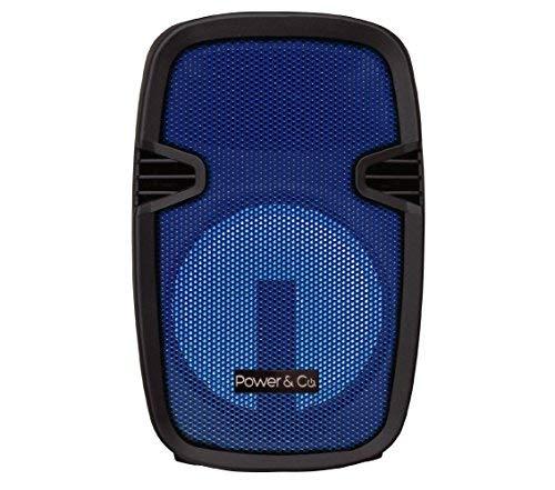 Power & Co. Bocina 4200W Color Azul con batería Recargable XPL8000BL