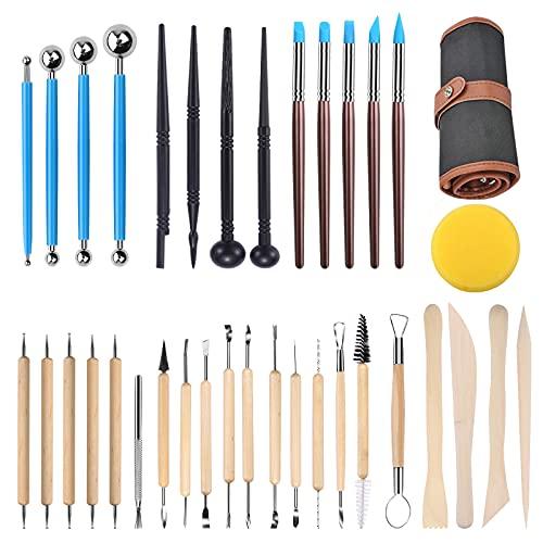 Oferta de Herramientas de Escultura, 36 pcsModelo Herramientas y accesorios Tallar cuchillo de escultura de madera para alfareros para Escultura Manualidades