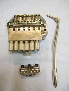 Headless electric guitar tailpiece or bridge, silver