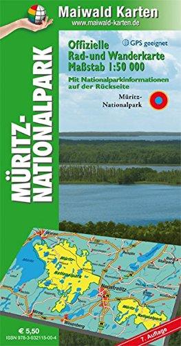 Müritz = Offizielle Rad- u. Wanderkarte Müritz-Nationalpark - Rückseite mit Nationalpark-Informationen: 1:50.000 - GPS geeignet - Kartennetz: ... - Maßstab 1:50.000 - GPS geeignet)