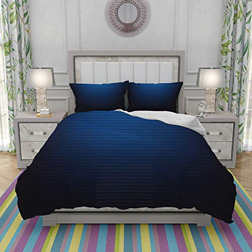 FYCORDB Duvet Cover Set-Bedding,Digital Stylized Horizontal Lines Ombre Effects Modern Urban Style Art Illustration,Quilt Cover Bedlinen-Microfibre 220x240cm with 2 Pillowcase 50x80cm