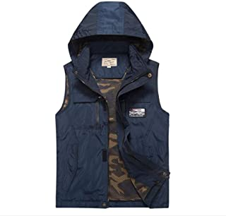 Spring and autumn outdoor vest middle-aged men's ul tra-thin mesh breathable waterproof vest hooded jacket large size
