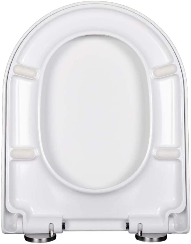 V U Shaped WC Toilet Seat Soft White One High quality new Button Luxury Clean Easy Close