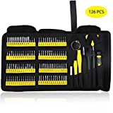 KER Precision Screwdriver Set with Magnetic Driver Kit, 126 in 1 Professional Electronics Repair Tool Kit for PC, Glasses, Mobile Phone, Laptop, iPhone, Watch, Tablet, iPad, MacBook with Portable Bag