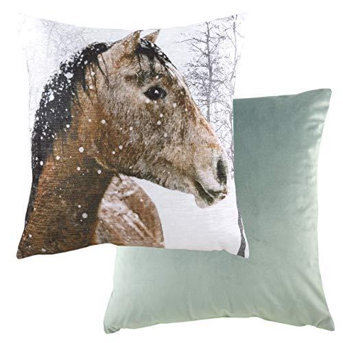 Evans Lichfield Copricuscino a Forma di Cavallo con Foto, Multicolore, 43 x 43 cm