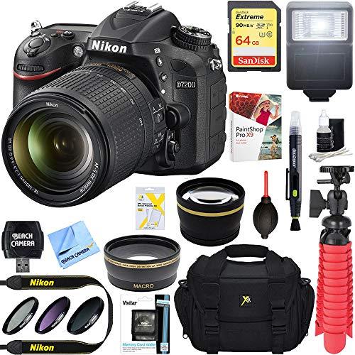 Nikon D7200 DX-Format Black Digital SLR Camera Kit (1555) + AF-S 18-140mm f/3.5-5.6G ED VR Lens + Accessory Bundle