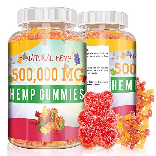 Natural Hemp Advanced Hemp Big Gummies 500000mg - Hemp Gummiés for Pain and Anxiety Stress Relief Inflammation Sleep Made in USA - Premium Extract - Mood & Immune Support
