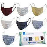 MediWeave Cotton Reuseable Face Mask (Multicolor, Without Valve, Pack of 7) for Unisex