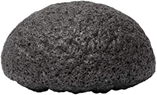 Bamboo Charcoal-Infused Konjac Facial Sponge, Cleansing and Exfoliating, 1 Piece