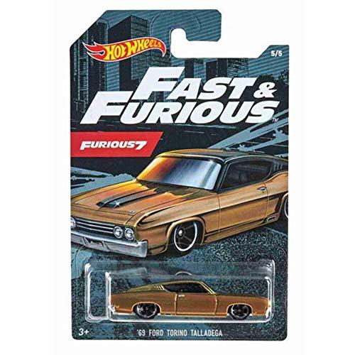Hot Wheels GDG44 - Auswahl: Fast & Furious 7 (2020) - Fahrzeuge, Autos ('69 Ford Torino Talladega)