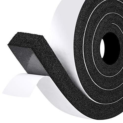 fowong Moosgummi Selbstklebend 50mm(B) x25mm(D) Moosgummiband Schaumstoffband Selbstklebend Dichtungsband für Fenster Tür Kollision Siegel Schalldämmung Gesamtlänge 2m (1 Rollen je 2m lang)