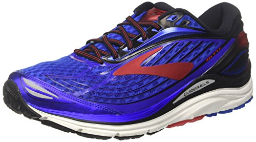 Brooks Men's Transcend 4, Blue/Red, 9 D