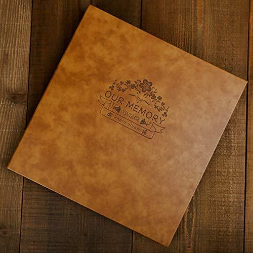 VIEWLON Album Photo Scrapbooking, Grande Taille 28x28cm DIY Traditionnel Scrapbook, Auto-adhésif, Pour 10x15, 11x15 ou Toute Autre Photos de Taille, Jusqu'à 26x22cm Photo (Especially for You, Marron)
