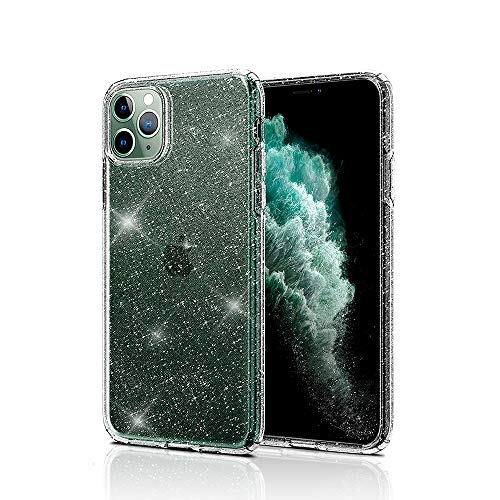 Compatible with iPhone 11 Pro Case,Transparent Slim Thin Liquid Crystal Clear Glitter Soft TPU Cover Shockproof Protective Anti-Slip Cases Designed for iPhone 11 Pro 5.8 inch(2019)- Crystal Quartz
