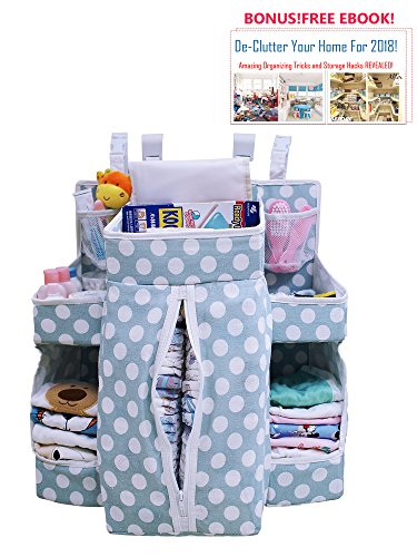 """CreaXion Baby Hanging Diaper Organizer Caddy 19"""" x 19"""" 