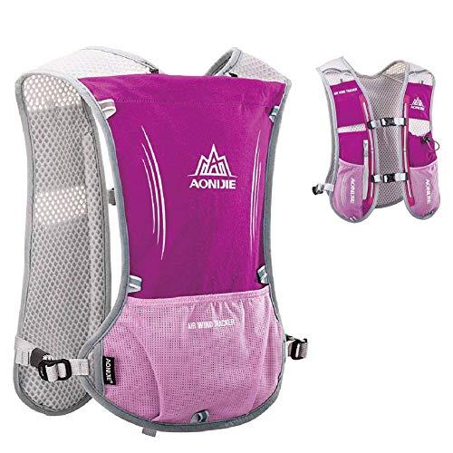 WANGIRL Mochila de Hidratación 5L Running Hydration Bag Chaleco de Hidratación Ligero para Ciclismo Excursión Carrera Senderismo Mujeres Hombres Tamaño: 43 * 28Cm,Rosado
