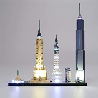 LED Lighting Kit for (Architecture New York City) Building Blocks Model - Led Light Kit Compatible with Lego 21028 (NOT In...