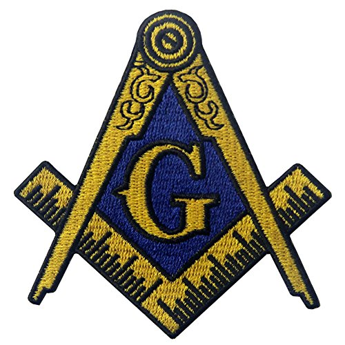 Masonic Logo Emblem Embroidered Freemason Iron On Sew On Patch - Multiple Color