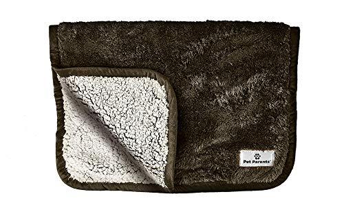 Pet Parents Pawtect Wasserdichte Haustierdecke, Premium Hundedecke mit WickQuick & Sherpup Technologie, bequeme Hundedecke, hochwertige Decken für Hunde & Katzen, Schokoladenbraun, 61 x 81 cm