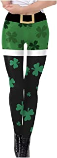 Orfilaly St. Patrick`s Day Leggings Gym High Waist Running Leggings Women Compression Yoga Pants Casual Trousers Tights